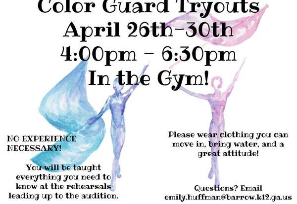 Rising 9th Graders - WBHS Color Guard