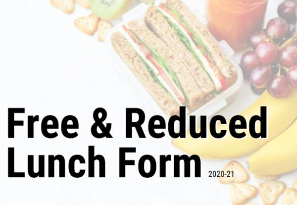 Free and Reduced Lunch Form 2020-21