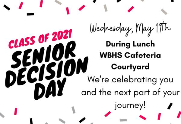 Senior Decision Day - May 19th