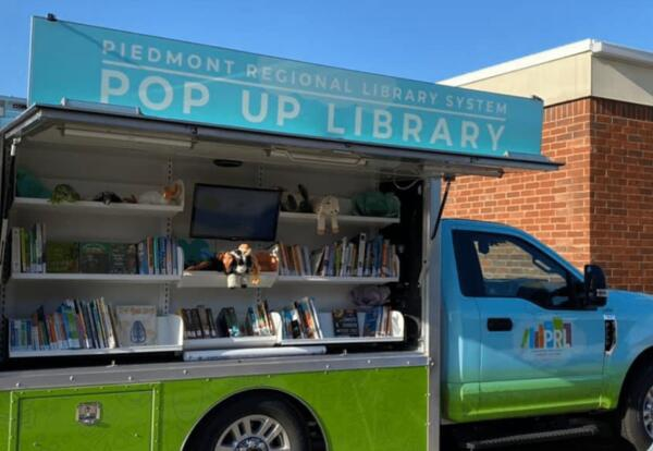 Pop-up Rolling Library to visit neighborhoods!