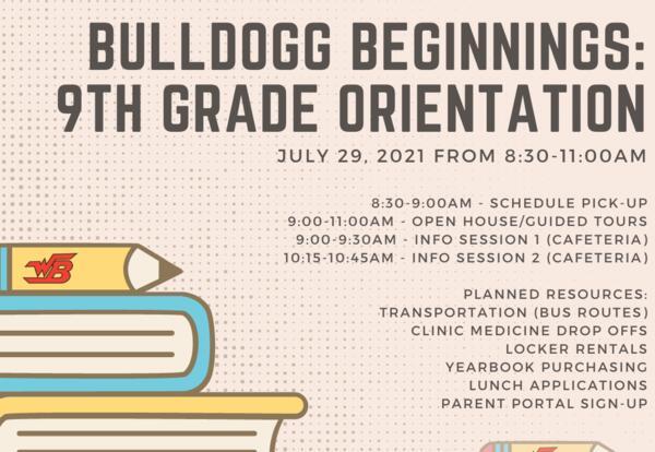 Bulldogg Beginnings: 9th Grade Orientation