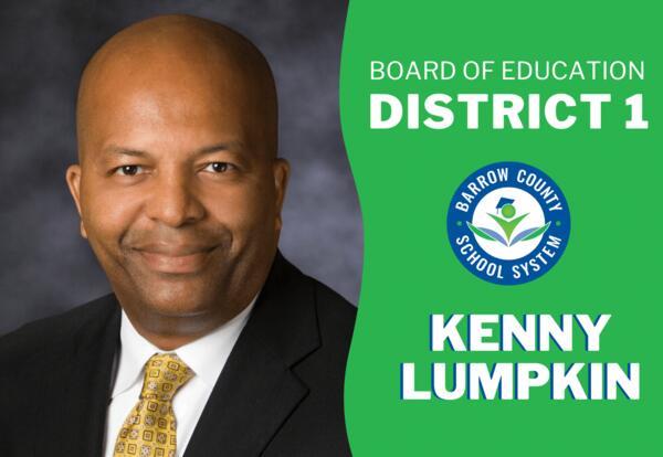 New BOE District 1 Member Kenny Lumpkin