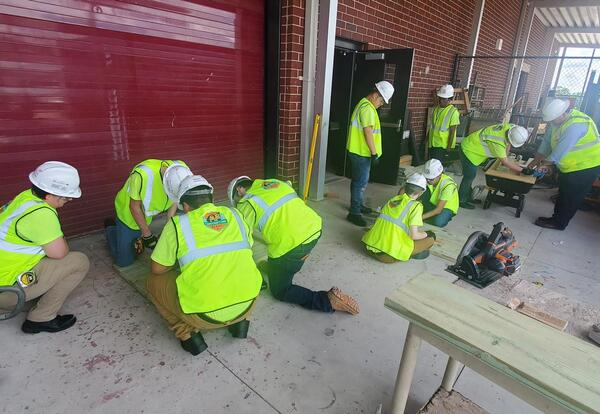 Construction Ready students practicing valuable job skills