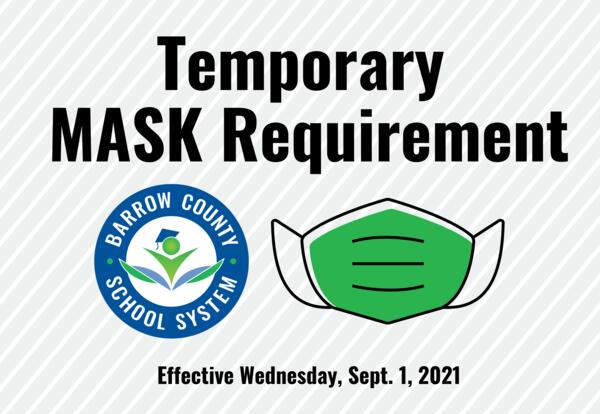 Temporary Mask Requirement for BCSS Starts Sept. 1
