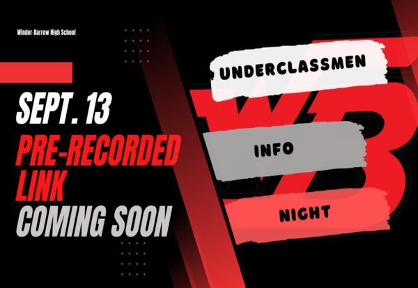 Underclassmen Info Night Sept. 13