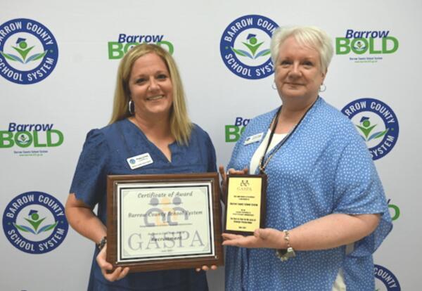 Meggan McNally and Cindy Beggs with the GASPA Awards