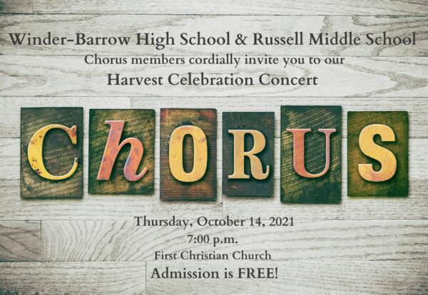 Harvest Celebration Concert Oct. 14, 2021 at 7 p.m.