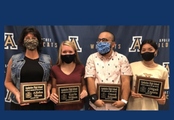 AHS Faculty and Students of the Month for August