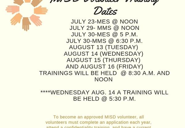 MISD Volunteer Training