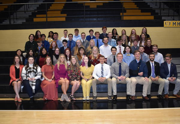 mhs seniors inducted into national honor society