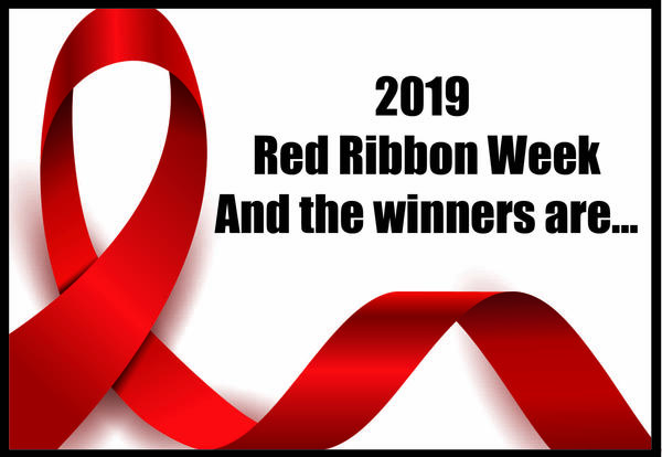 Red Ribbon week and the winners are...