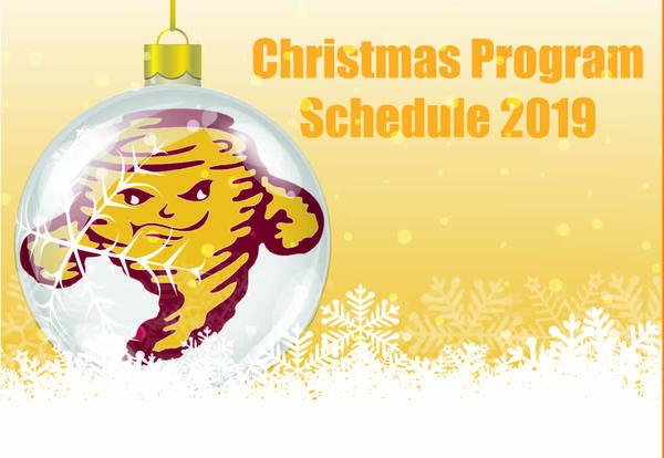 Christmas program schedule 2019