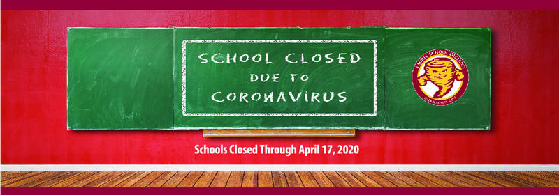 school closed through april 17 due to coronavirus school district logo tornado