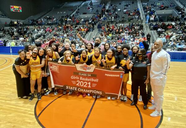 team photo with championship banner