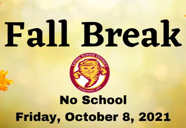 Fall picture background with fall break closure details