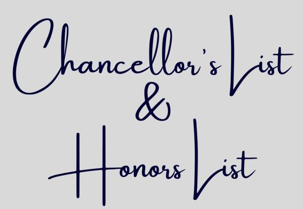 Chancellor's List and Honor's List
