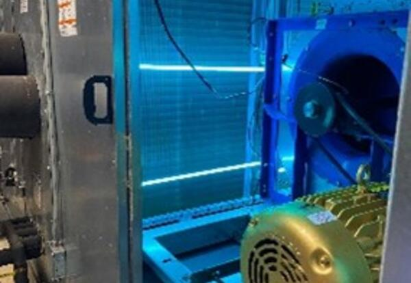 air handler with sterilizing UV ligts