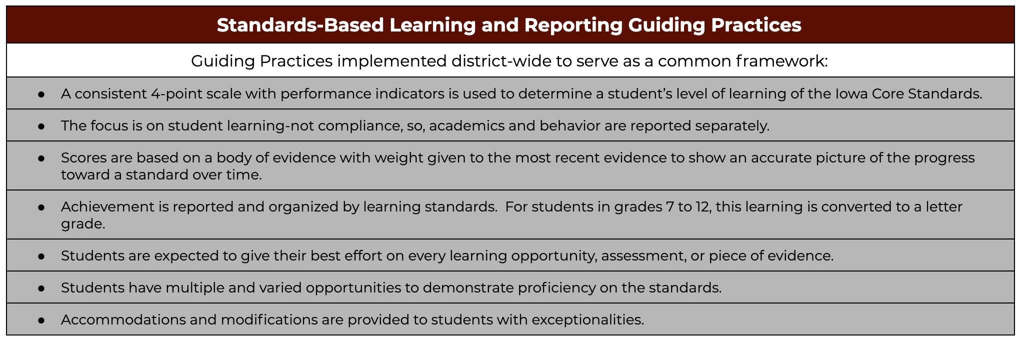 OCSD Standards-Based Learning Guiding Practices