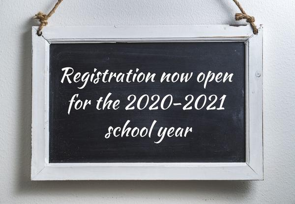 Registration now open for the 2020-2021 school year