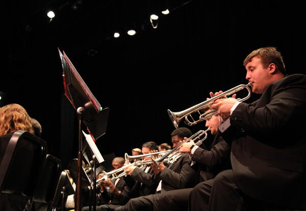 concert band playing music