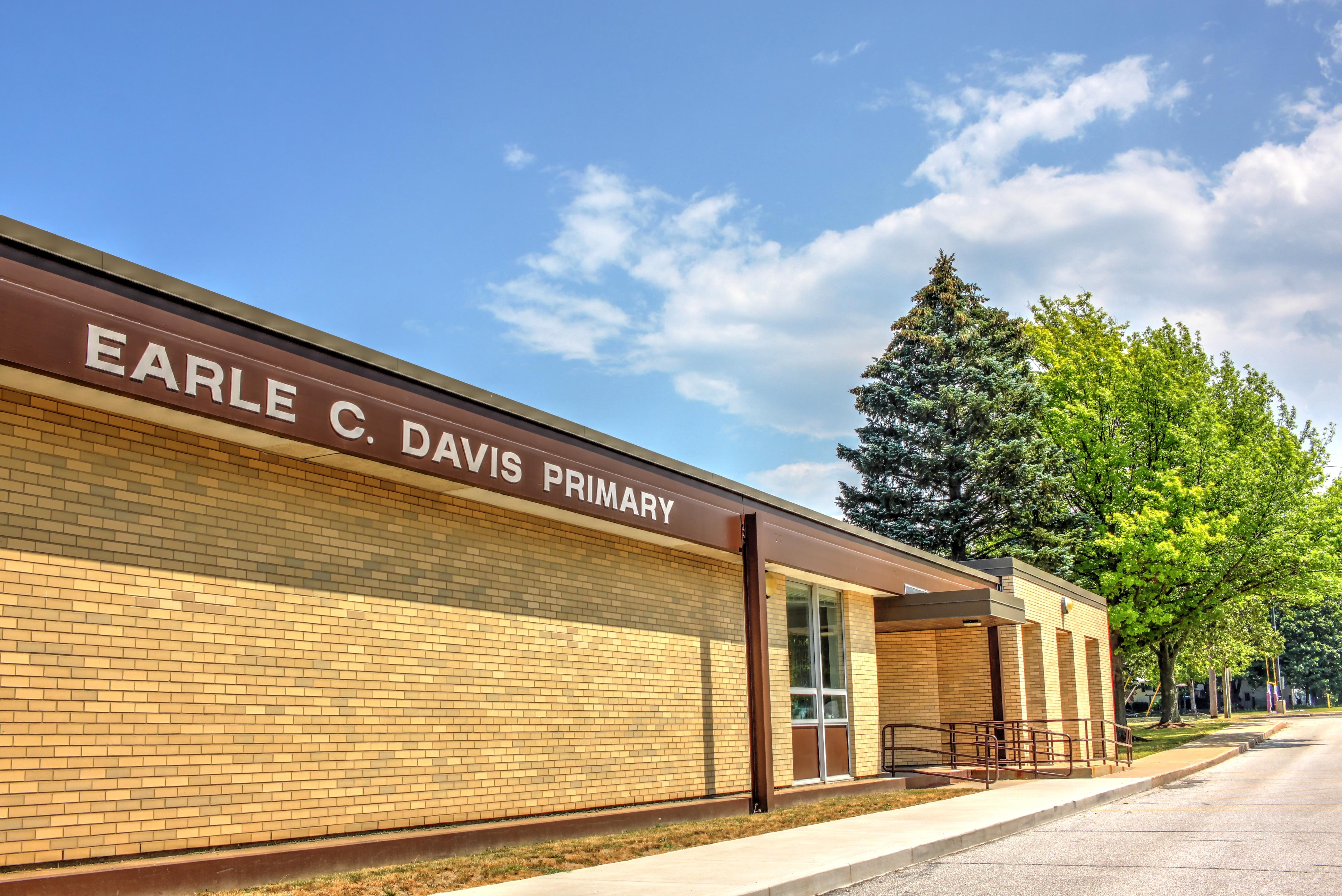 Outside view of the Earle C. Davis School