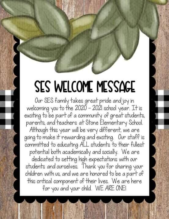 SES Welcome Message banner