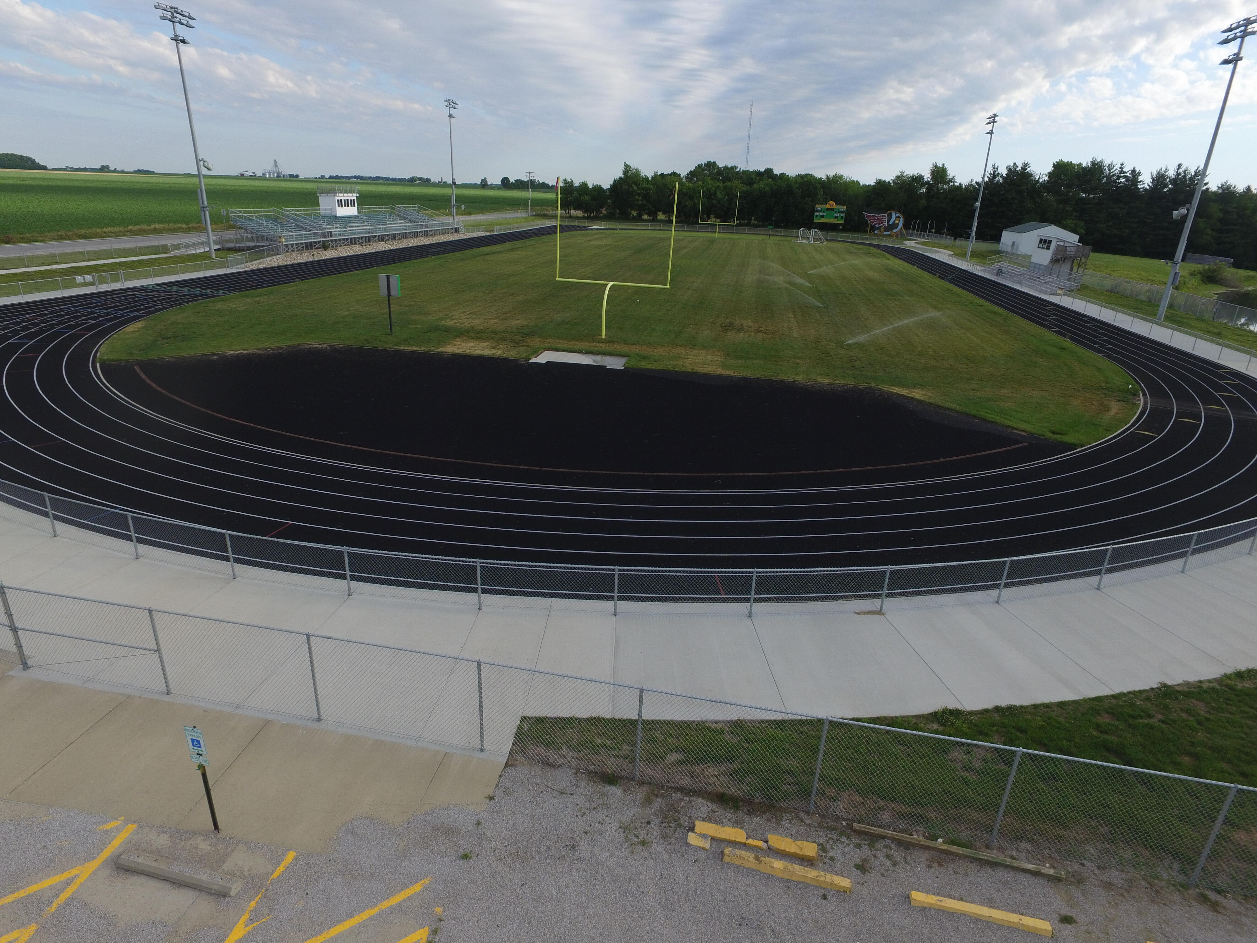 High School Track and Football Field