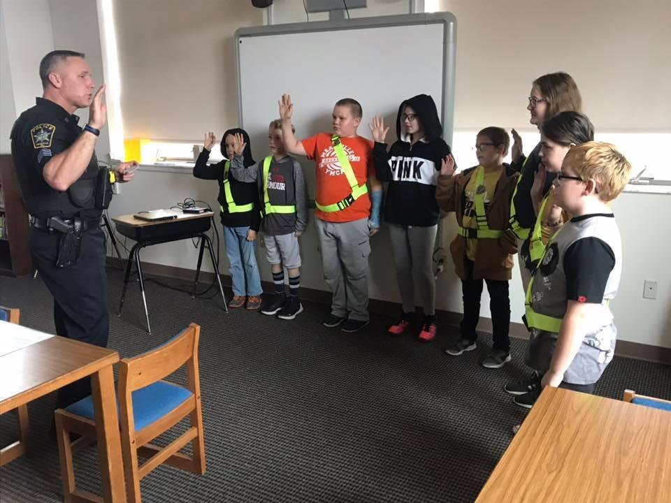 Second District Elementary Safety Patrol students