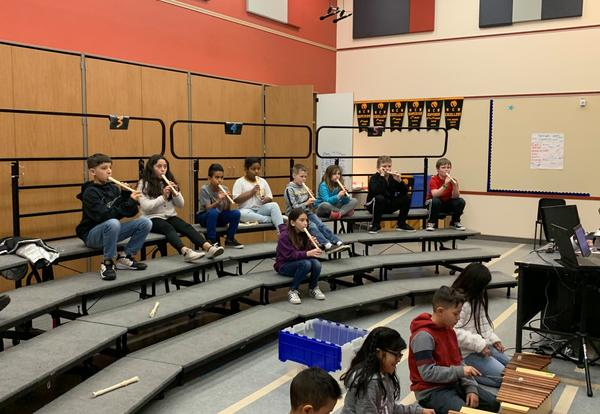 Sterling 3rd graders embracing music