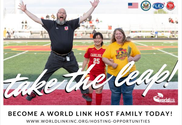 Take the leap! Become a World Link Host Family today