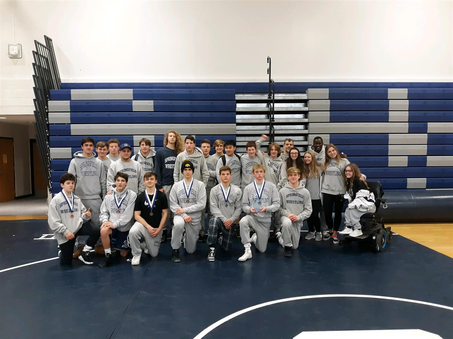 Wrestling team on the mat