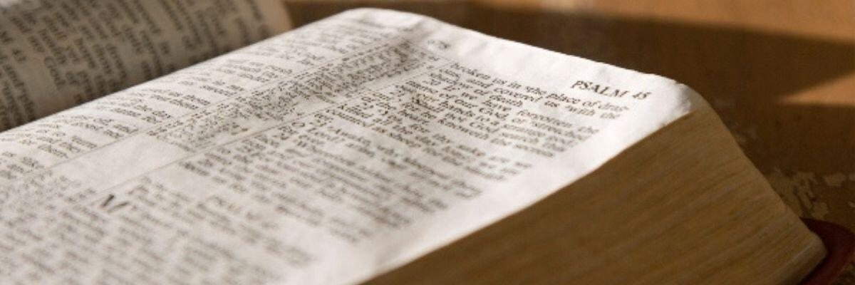 The Bible opened to Psalms