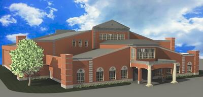 Rendering of ECS Building Side View