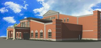 Rendering of ECS Building Side View 2