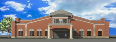 Rendering of ECS  Building - Front View