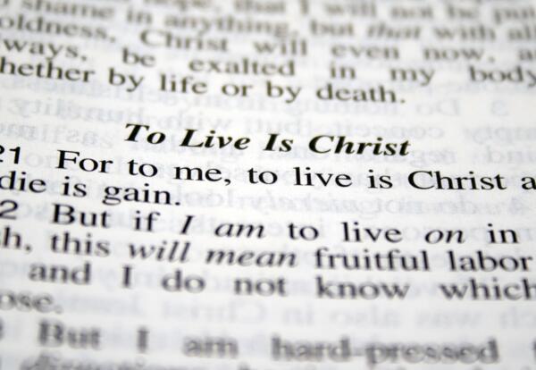 Phil 1:21 Bible text