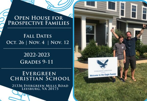 Open House Information and photo of ECS family