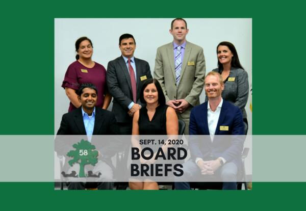 Board Briefs: Sept. 14, 2020