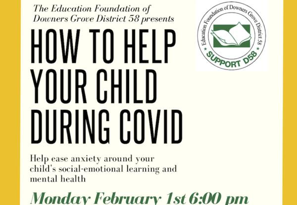 """You're invited to """"How to Help Your Child During COVID-19"""" on Feb. 1"""