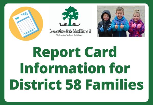 District 58 shares 2020-21 Trimester 2 report card information for families