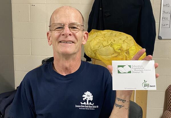 Thank a teacher or staff member with a Green Apple Award