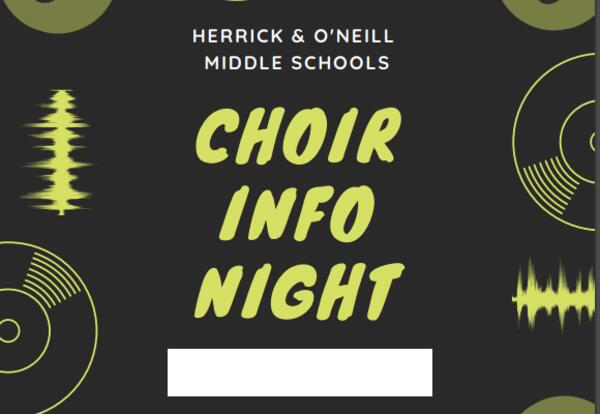"""Middle schools hold """"Choir Info Night"""" for sixth graders and parents"""
