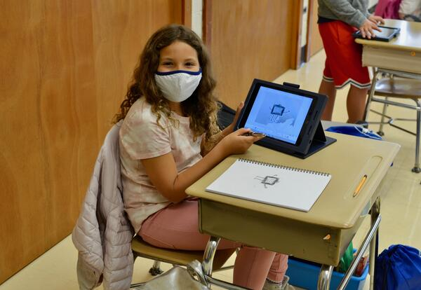 Students will return District iPads and Chromebooks