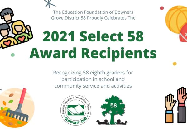 Education Foundation honors eighth grade Select 58 Award recipients for their commitment to service