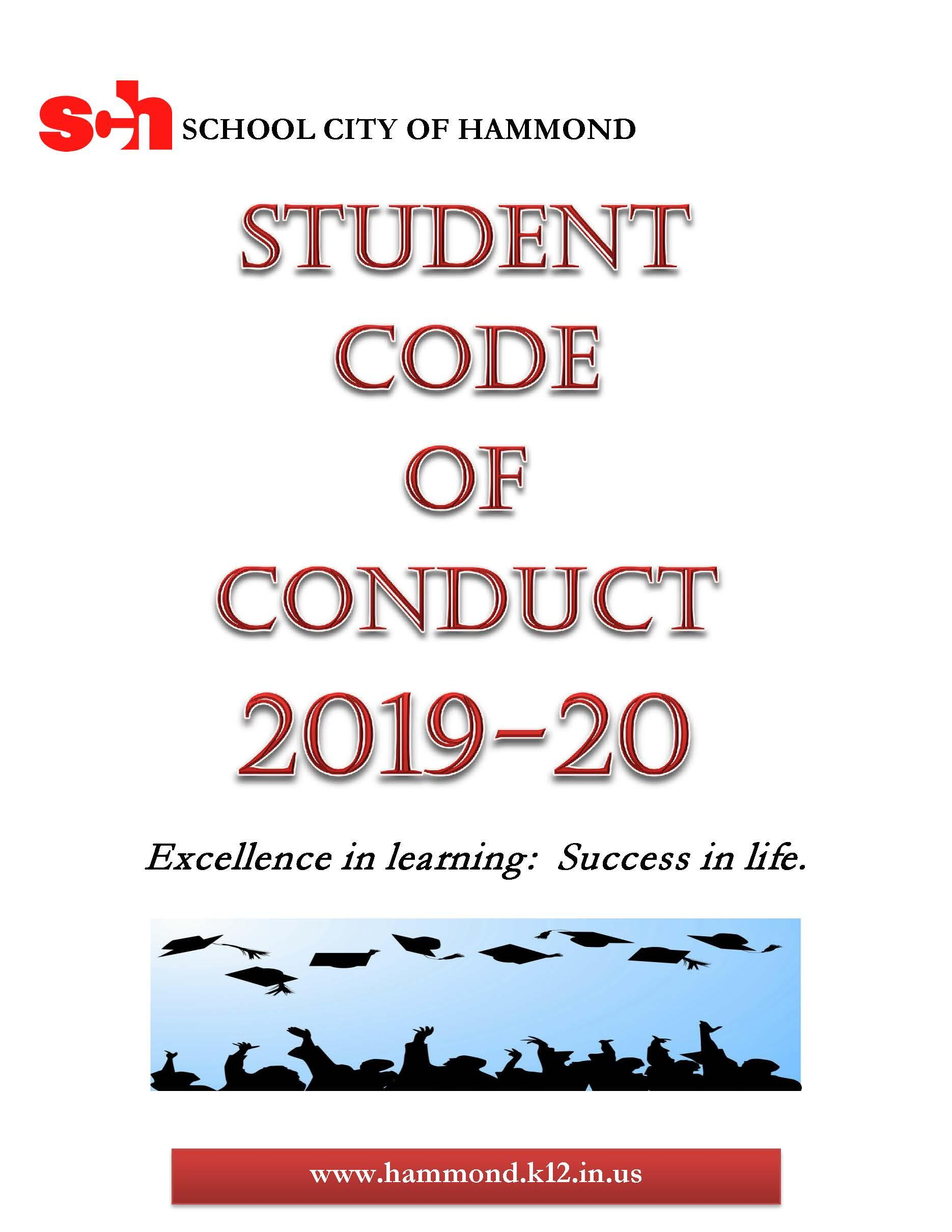 Student Code of Conduct 2019-2020 - English