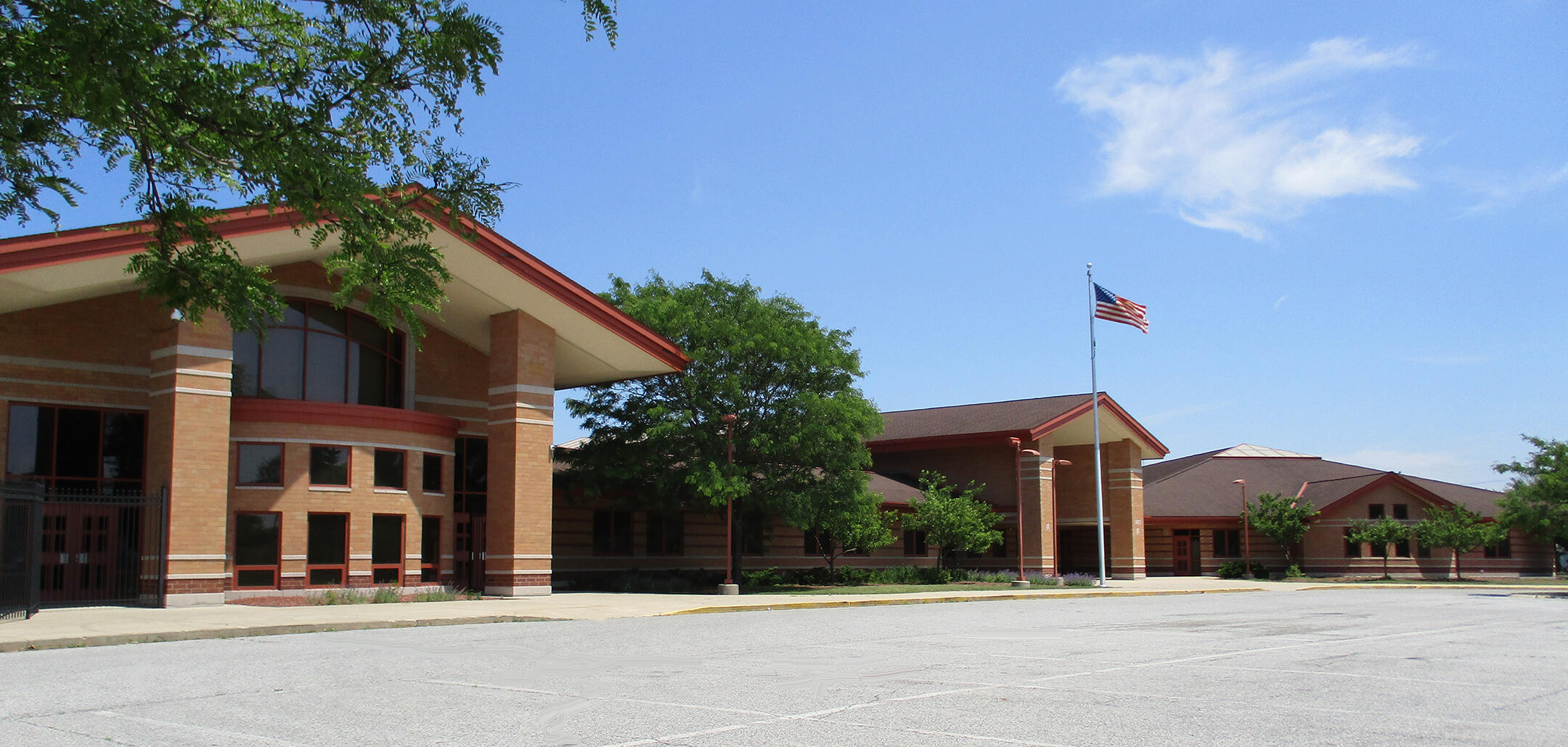 Harding Elementary. School Front View