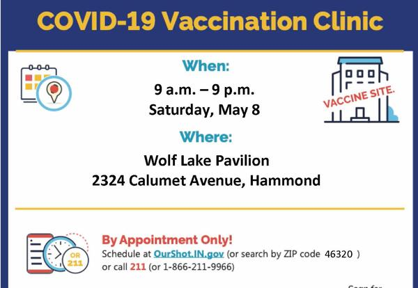 SCH Participates in COVID-19 Vaccination Clinic at Wolf Lake Pavilion