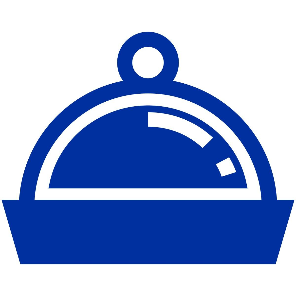 Graphical icon depicting a covered plate