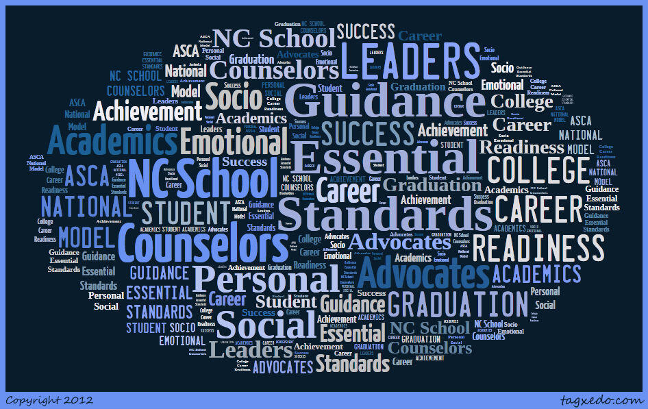 Word collage of counseling-related terms