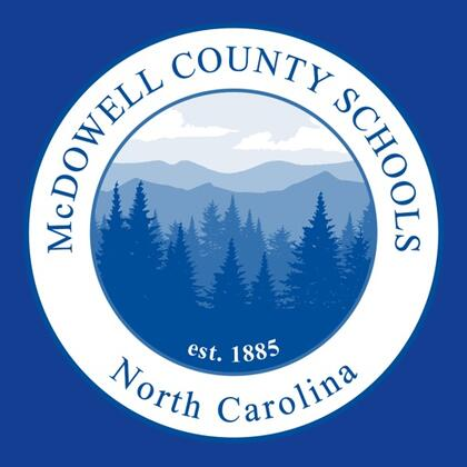 McDowell County Schools Seal with mountains